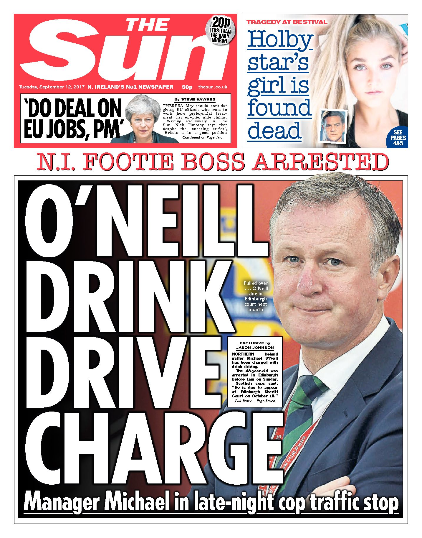 Michael O'neill Drink Driving